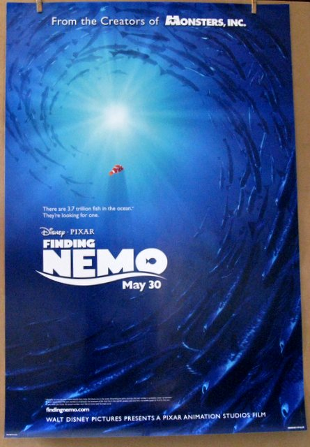 DISNEY'S FINDING NEMO - 2003 - Advance One Sheet Movie Poster - 27