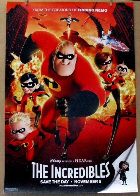 DISNEY'S THE INCREDIBLES - 2004 - Advance One Sheet Movie Poster - 27