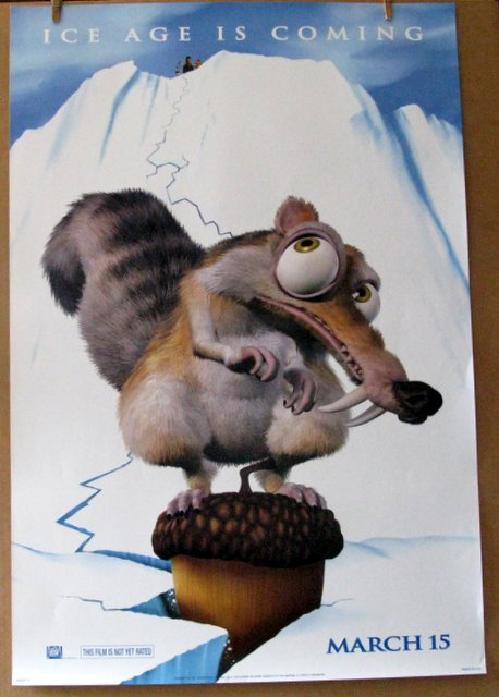 ICE AGE - 2002 - Advance One Sheet Movie Poster - 27