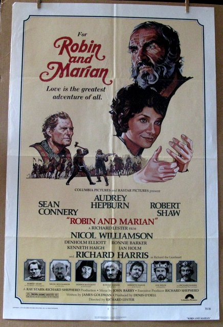 SEAN CONNERY, AUDREY HEPBURN - ROBIN AND MARIAN - 1976 - One Sheet Movie Poster - 27