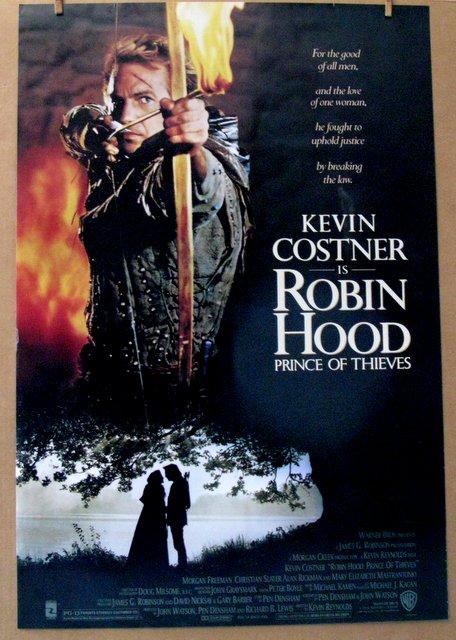 KEVIN COSTNER - ROBIN HOOD - 1991 - One Sheet Movie Poster - 27