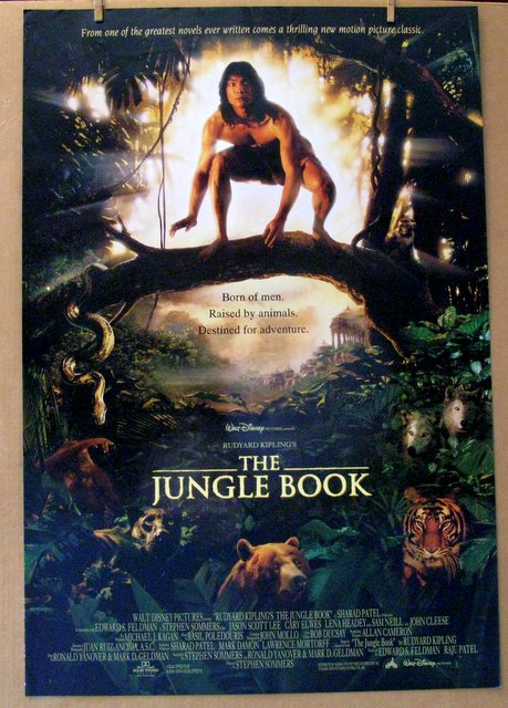 DISNEY'S JUNGLE BOOK (Live Action) - 1994 - One Sheet Movie Poster - 27