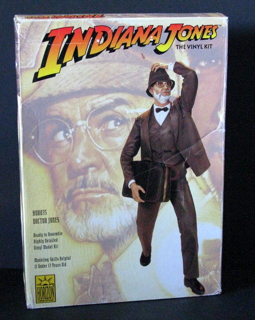 DR. JONES (Indy's dad) - VINYL MODEL FIGURE - Horizon Hobbies, 1993 – An accurate 1/6th scale figure model that stand approximately 12
