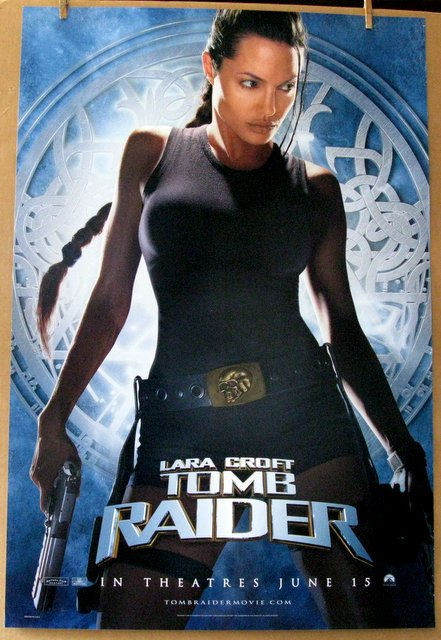 LARA CROFT TOMB RAIDER - 2001 - Advance One Sheet Movie Poster - 27