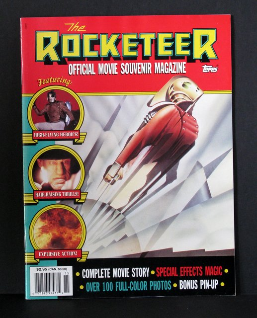 THE ROCKETEER - OFFICIAL MOVIE SOUVENIR MAGAZINE - Topps, 1991 - Official magazine featuring the complete movie story, behind the scenes special effects, over 100 full-color photos, and a bonus pin-up poster. Excellent.
