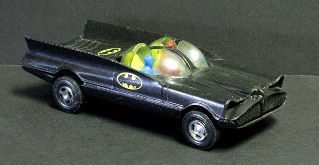 1966 BATMAN VINTAGE PLASTIC BATMOBILE - Simms Toys, 1966 - All plastic vehicle measures 8 1/2
