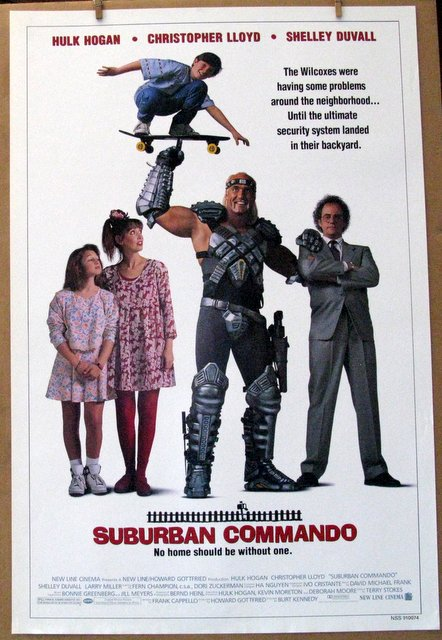 HULK HOGAN - SUBURBAN COMMANDO - 1991 - One Sheet Movie Poster - 27