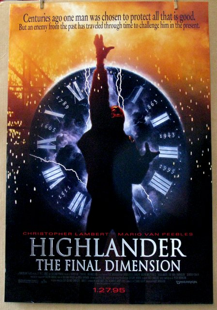 HIGHLANDER: THE FINAL DIMENSION - 1994 - One Sheet Movie Poster - 27