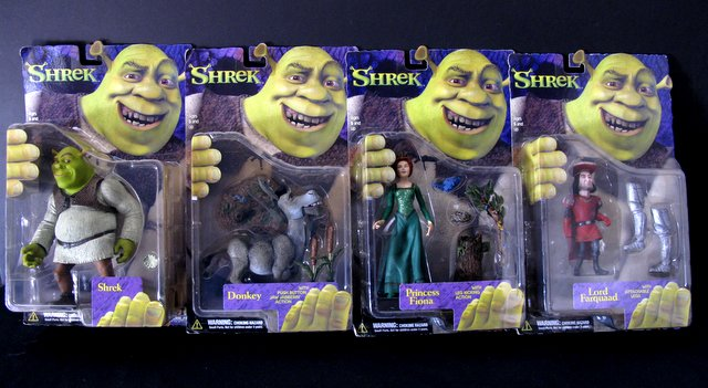 SHREK - COMPLETE SET OF FOUR 7