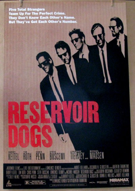 QUENTIN TARANTINO'SFIRST FILM: RESERVOIR DOGS - 1992 - One Sheet Movie Poster - 27
