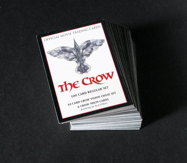 THE CROW - OFFICIAL MOVIE TRADING CARDS - COMPLETE SET OF 100 - Kitchen Sink Press, 1994 - Complete set of 100 limited edition The Crow trading cards. Excellent.