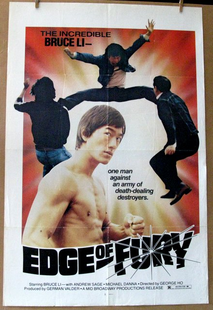 EDGE OF FURY (Early Bruce Lee Film) - 1958 - One Sheet Movie Poster - 27