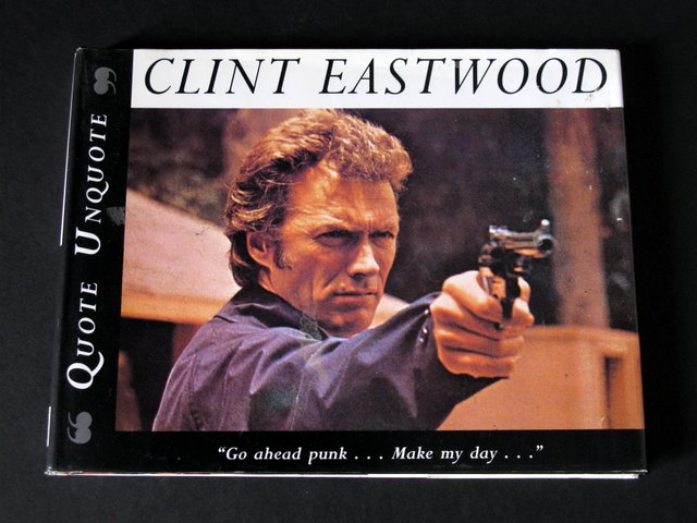 CLINT EASTWOOD, QUOTE UNQUOTE - DELUXE HARD-COVER BOOK - Paragon Book Service, 1996 - Story following the awesome career of one of Hollywood's most brilliant actors. Measures 10