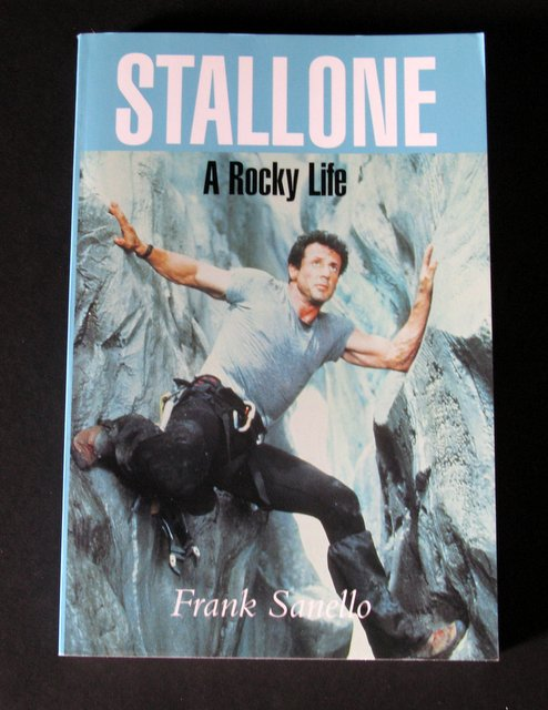 STALLONE, A ROCKY LIFE - DELUXE TRADE PAPERBACK BOOK - Mainstream Publishing, England, 1998 - In-depth 191 page book of the emotional background of the film icon. 6