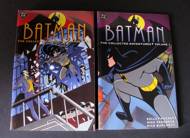 BATMAN ANIMATED - COLLECTED ADVENTURES VOLUMES 1 & 2 - DC Comics, 1994 - Both 144 full color pages. Near Mint.