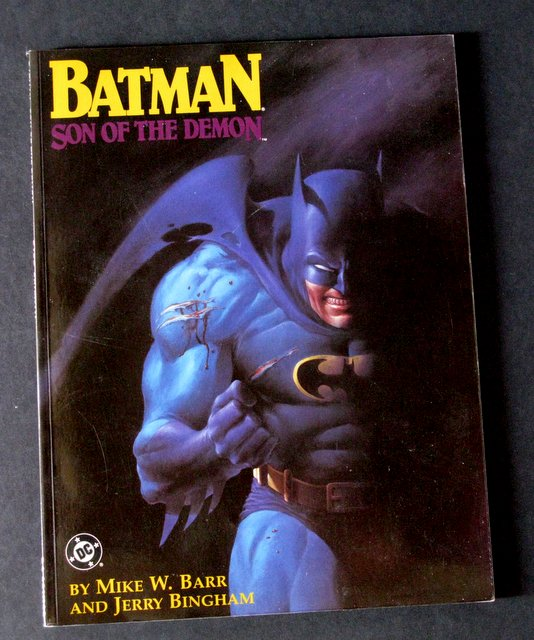 BATMAN, SON OF THE DEMON - GRAPHIC NOVEL - DC Comics, 1987 - Full color comic with stunning cover graphic. 8 1/2