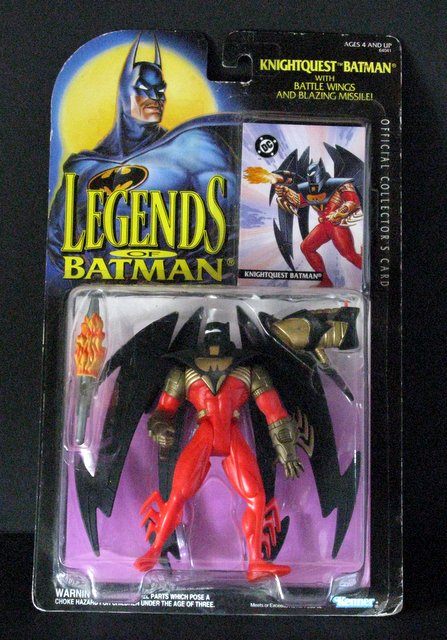 LEGENDS OF BATMAN - KNIGHTQUEST BATMAN ACTION FIGURE - Kenner, 1994 - 5 1/2