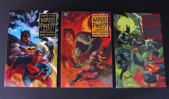 SUPERMAN & BATMAN - LEGENDS OF THE WORLDS FINEST THREE BOOK SET - DC Comics, 1994 - All three graphic novels near mint.