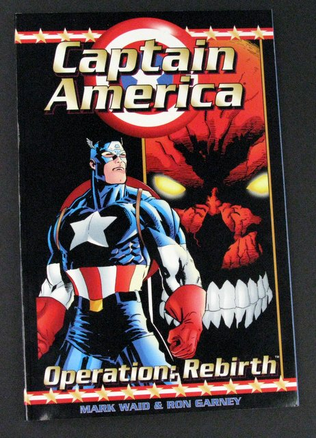 MARVEL - CAPTAIN AMERICA - OPERATION REBIRTH - DELUXE TRADE PAPERBACK GRAPHIC NOVEL - Marvel Comics, 1996 - Full color story of one of Captain America's hardest adventures against Red Skull. 6 1/2