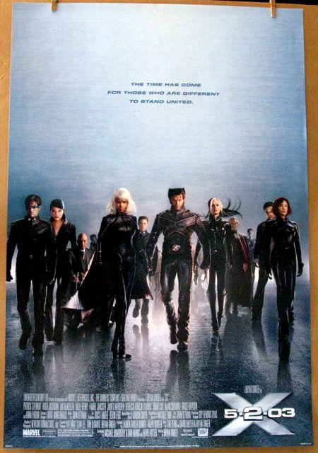 MARVEL - X-MEN 2 - SET OF TWO POSTERS - ADVANCE AND REGULAR (Style B) - 2003 - Two One Sheet Movie Posters - Both 27