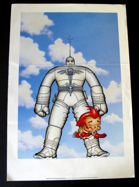 "BIG GUY & RUSTY THE BOY ROBOT LIMITED ART PRINT SDCC EXCLUSIVE - 1992 - Limited edition of 350 featuring Frank Miller artwork. Measures 12 ¼"" x 18 ¼"". Very Good."