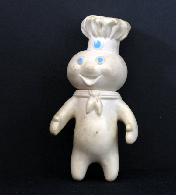 VINTAGE PILLSBURY DOUGH BOY PVC FIGURE - The Pillsbury Company, 1971 - Fun vintage figure of the famous advertising mascot. Measures 7