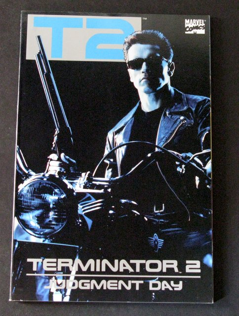 TERMINATOR 2 JUDGMENT DAY - MOVIE ADAPTATION COMIC BOOK - Marvel Comics, 1991 – Slick full-color adaptation of the second movie in the Terminator series. Near Mint.