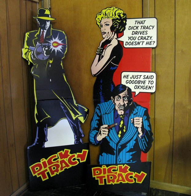 DISNEY'S DICK TRACY & BREATHLESS – 6 FOOT TALL MOVIE STANDEES - LOT OF TWO - Walt Disney Co, 1990 – Set of two 5' 10
