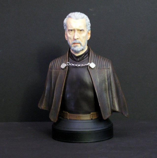 "STAR WARS – COUNT DOOKU - RARE PAINTED BUST – Gentle Giant Studios, 2002 – Handsomely sculpted bust of the infamous Jedi turned Sith. Stands 6"" tall. Like new."