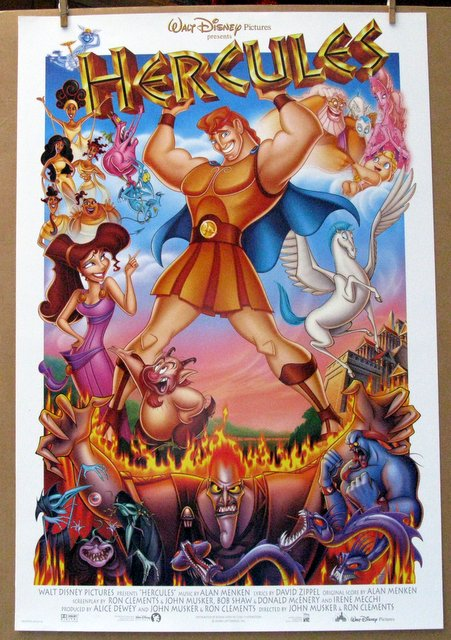 DISNEY'S HERCULES - 1997 - One Sheet Movie Poster - 27
