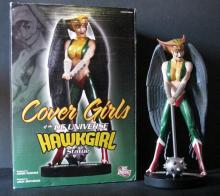 DC COMICS' HAWKGIRL DELUXE PAINTED STATUE WITH BOX - DC Direct, 2011 - Limited edition, number 1,622/5,000. Measures 9 1/2