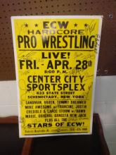 VERY RARE & COOL ECW REAL SPORTSPLEX SIGN W/ MULTIPLE ECW WRESTLERS AUTOS - SIGNED BY NOVA, JAZZ, ELECTRA, VIC GRIMES, GUIDO, AND MANY OTHERS I CANT MAKE OUT