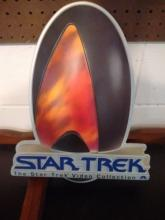 1995 STAR TREK VIDEO COLLECTION - PLASTIC MOLDED SIGN
