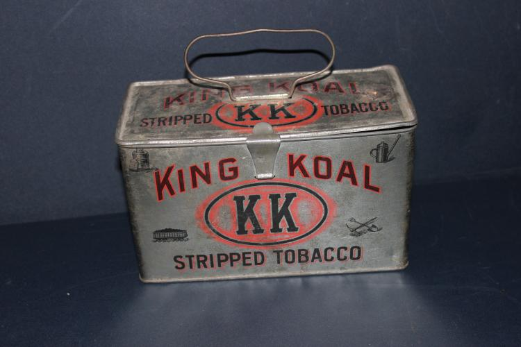KING KOAL TOBACCO TIN - GOOD COND. 8 X 5 X 3.5