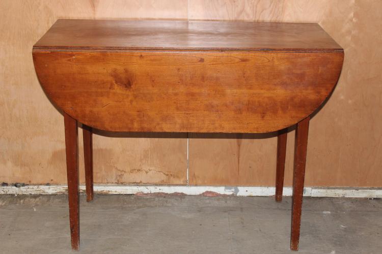 EARLY HEPPLEWHITE DROP LEAF TABLE 27.5