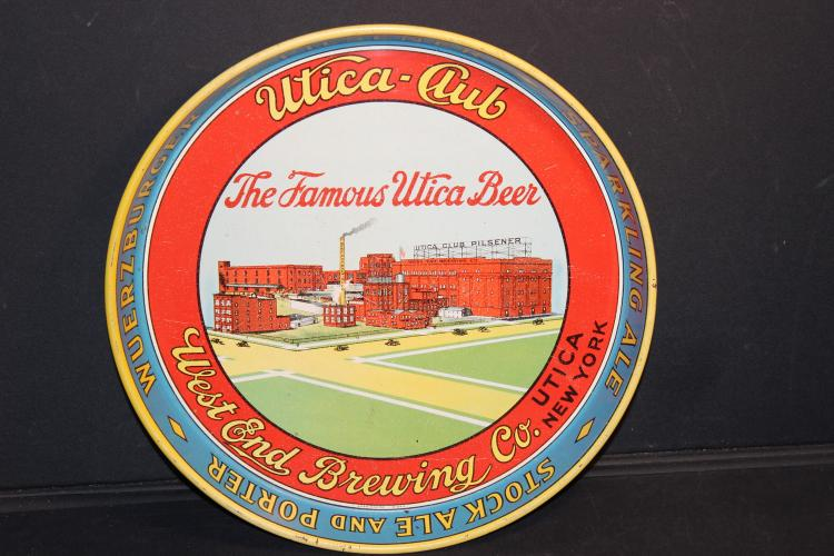 UTICA CLUB BEER TRAY IN EXC. GRAPHIC COND. 12