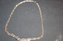 SUPER 14 K WHITE GOLD LADIES NECKLACE - EXC. COND. 10.2 DWT 16
