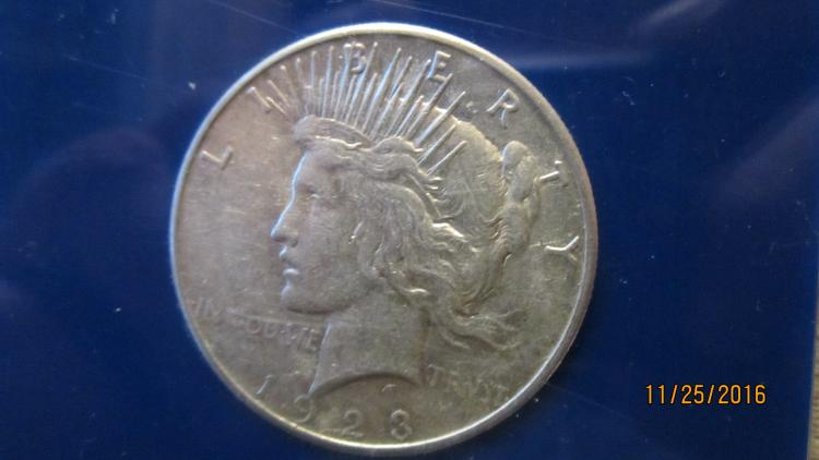1923 US SILVER PIECE DOLLAR AND ORIGINAL CASE AU COND