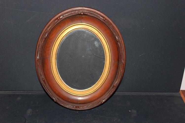 ORNATE DEEP WALNUT VICTORIAN PERIOD FRAME WITH GUILTED INSERT - A GEM 15.5 X 13.5 X 2.5 - MINT