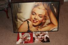LARGE FRAMED POSTER MARILYN MONROE 2012 AND 2013 CALENDARS MINT 36.5 - 24