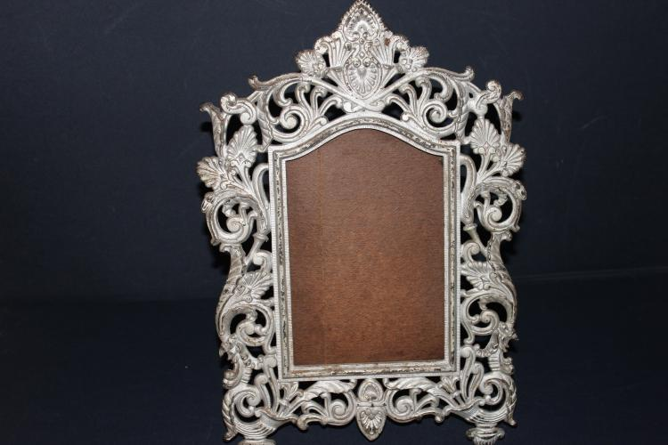 ORNATE IRON VICTORIAN PERIOD FRAME - SIGNED BRADLEY & HUBBARD - EXC. COND. 15