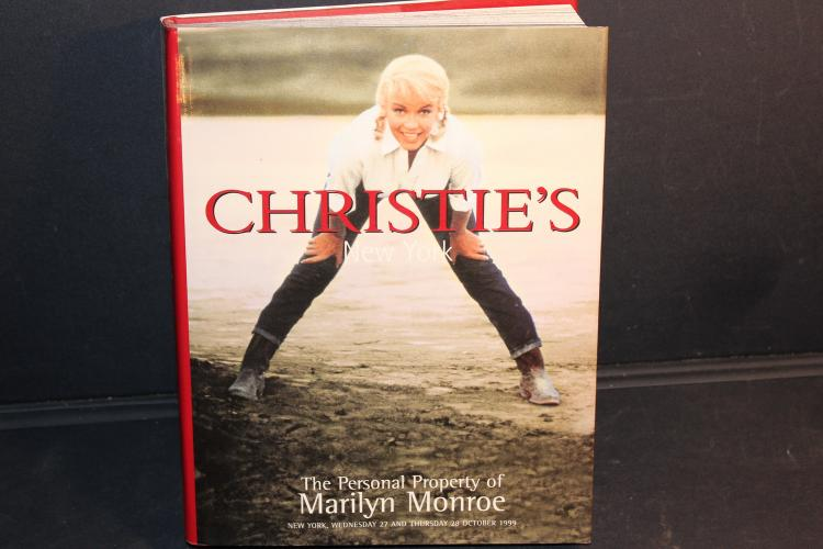 RARE AND INTERESTING CHRISTIE'S AUCTION OF THE PERSONAL PROPERTIES OF MARILYN MONROE 415 PAGES WITH JACKET AND ESTIMATES