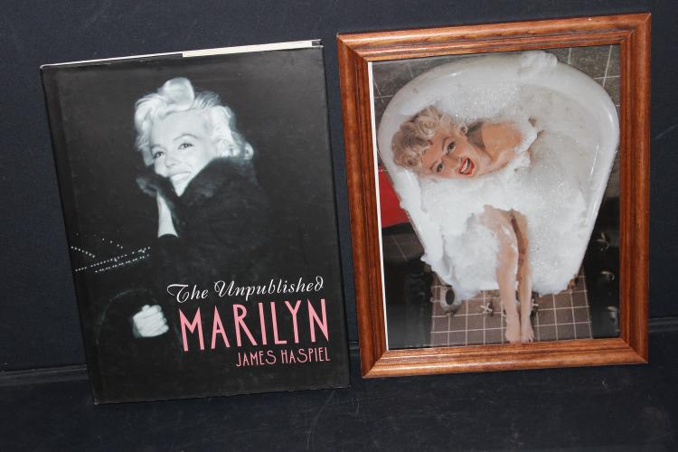 8 X 10 PICTURE MARILYN MONROE PLUS VERY INTERESTING UNPUBLISHED MARILYN MONROE BY JAMES HASPIEL - MANY UNTOLD STORIES