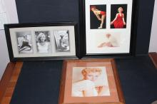 3 FRAMED HANGING PICTURES OF MARILYN MONROE - TOTAL OF 7 PICTURES
