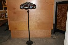 BEAUTIFUL LEADED GLASS FLOOR LAMP 61