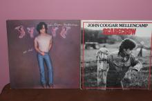 2 JOHN COUGAR MELLENCAMP ALBUMS - SCARECROW 1985 POLYGRAM RECORDS - UH-HUH 1983 RIVA RECORDS