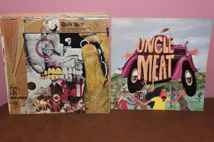 2 UNCLE MEAT FRANK ZAPPA MOTHERS OF INVENTION - 2 L.P. SET BIZARRE RARE GATEFOLD ALBUM COVER W/ ORIG. JACKETS - L.P. NEAR MINT - COVER FEW BLEMISHES - ORIG. 1968 6 PAGE BOOKLET
