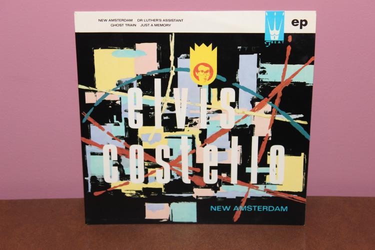 ELVIS CASTELLO 4- SONGS, CARDBOARD SLEEVE E.P. 45 RPM – NEAR MINT
