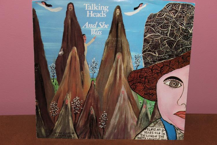 1985 SIRE RECORDS TALKING HEADS- AND SHE WAS 45 RPM NEAR MINT