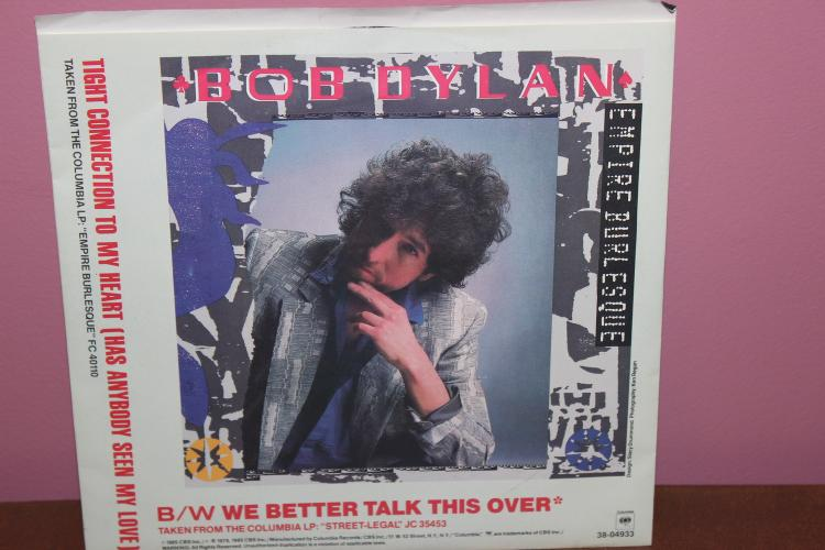 BOB DYLAN 1985 COLUMBIA RECORDS – ORANGE LABEL – 2 DIFFERENT SONGS – NEAR MINT